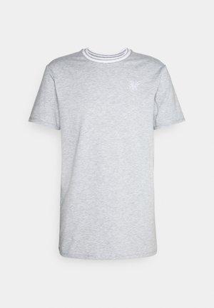 ROLL SLEEVE TEE - Basic T-shirt - grey/white