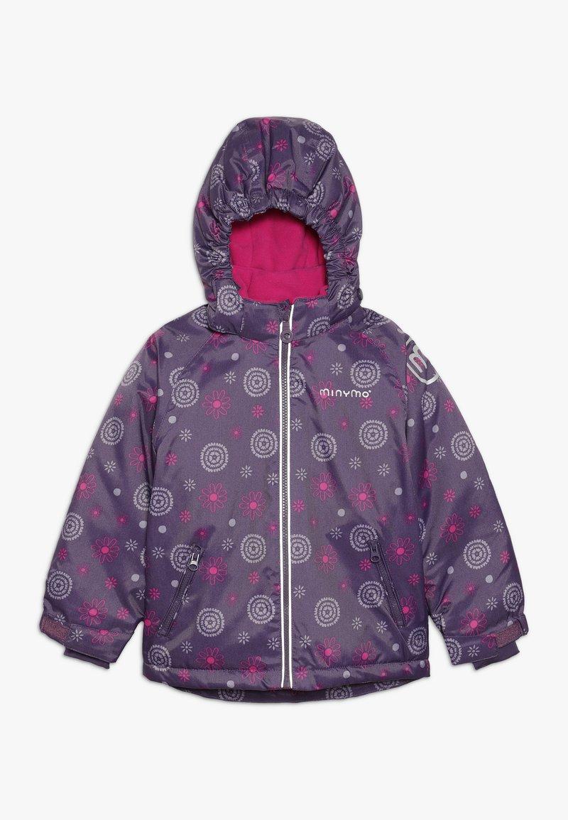 Minymo - SNOW JACKET OXFORD GIRL SHAPE - Zimní bunda - loganberry
