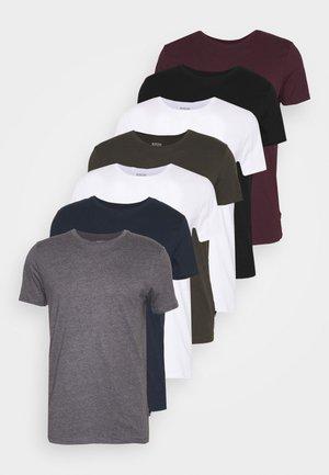 SHORT SLEEVE CREW 7 PACK - T-shirt basic - black