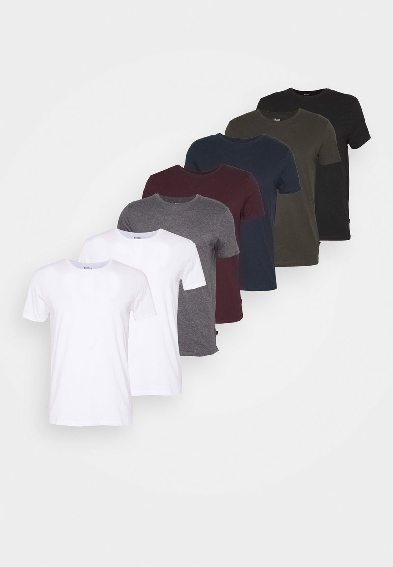 Burton Menswear London - SHORT SLEEVE CREW 7 PACK - Basic T-shirt - black