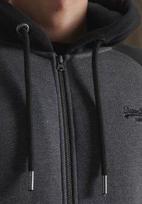 Superdry - ORANGE LABEL - Sweatjacke - low light black grit - 2