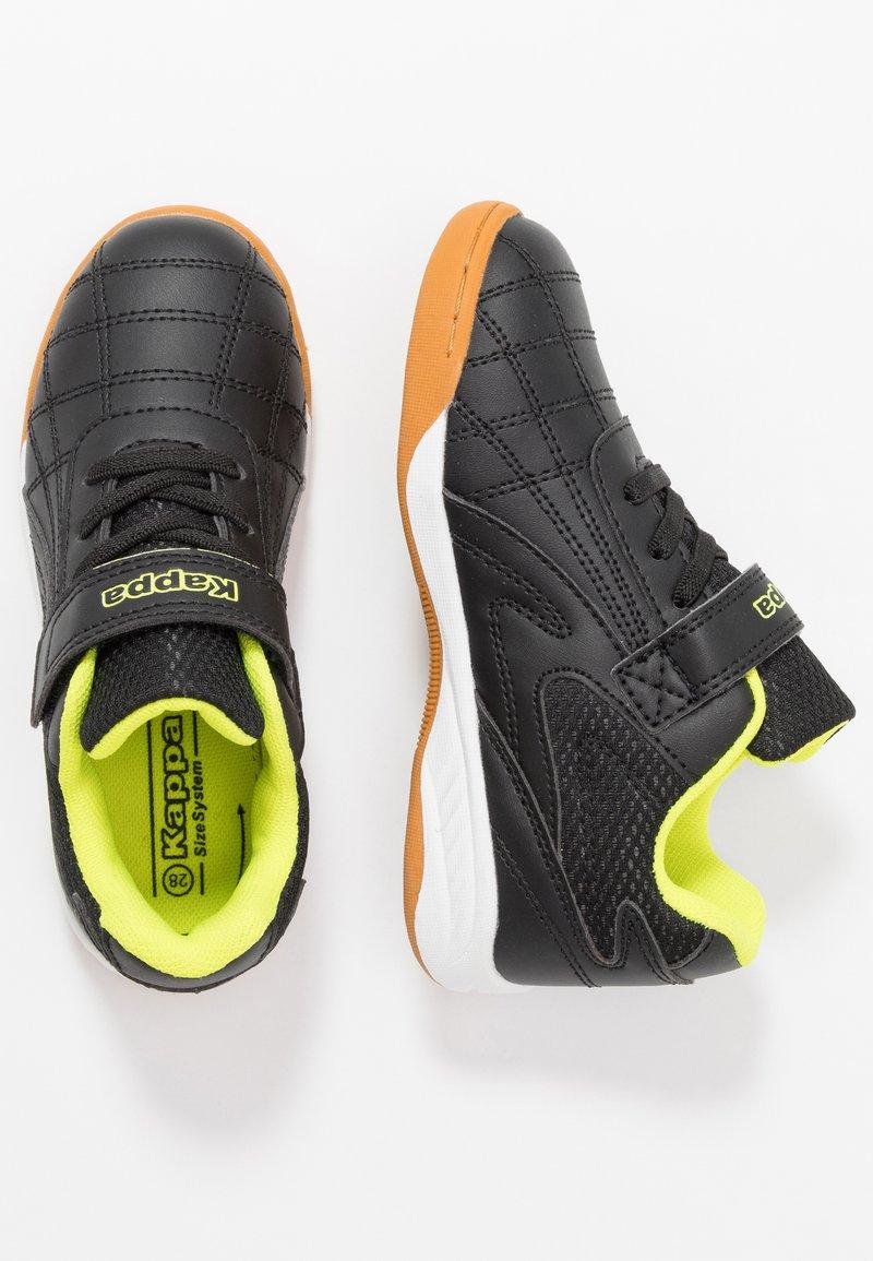 Kappa - FURBO UNISEX - Sports shoes - black/yellow