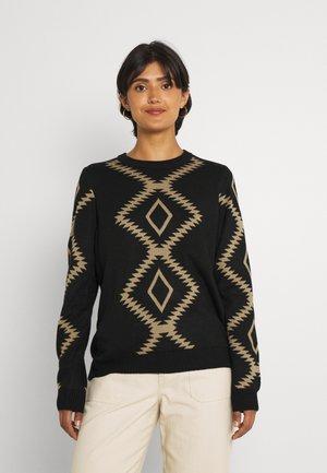VICAMILLA - Pullover - black/beige