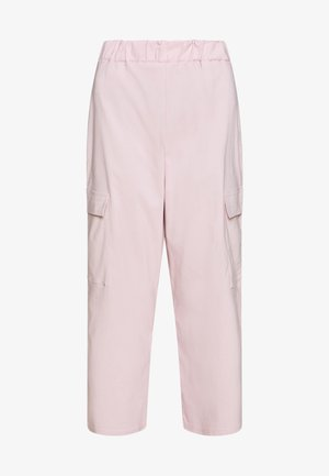 WIDE LEG CARGO TROUSERS - Cargobukse - pale pink