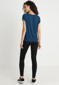 Vero Moda - VMAVA PLAIN - T-shirt basic - gibraltar sea - 2
