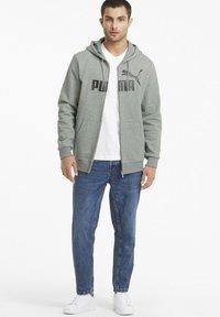 Puma - Zip-up hoodie - medium gray heather - 1