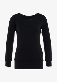 Curare Yogawear - BOAT NECK - Long sleeved top - black - 3