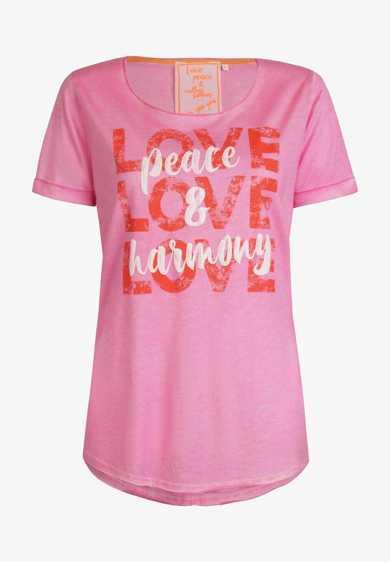 Lieblingsstück - CARISSIMAL - Print T-shirt - rose