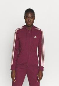 adidas Performance - Zip-up sweatshirt - victory crimson/halo blush - 0