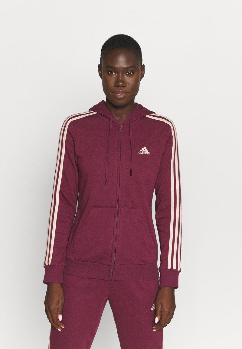 adidas Performance - Zip-up sweatshirt - victory crimson/halo blush