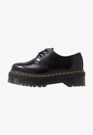 1461 QUAD SHOE - Stringate sportive - black polished smooth