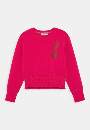 SUPER SOFT WITH ARTWORK AND SMOCKED HEM - Sweatshirt - wild berry