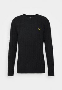 Lyle & Scott - CABLE JUMPER - Jumper - jet black marl - 4
