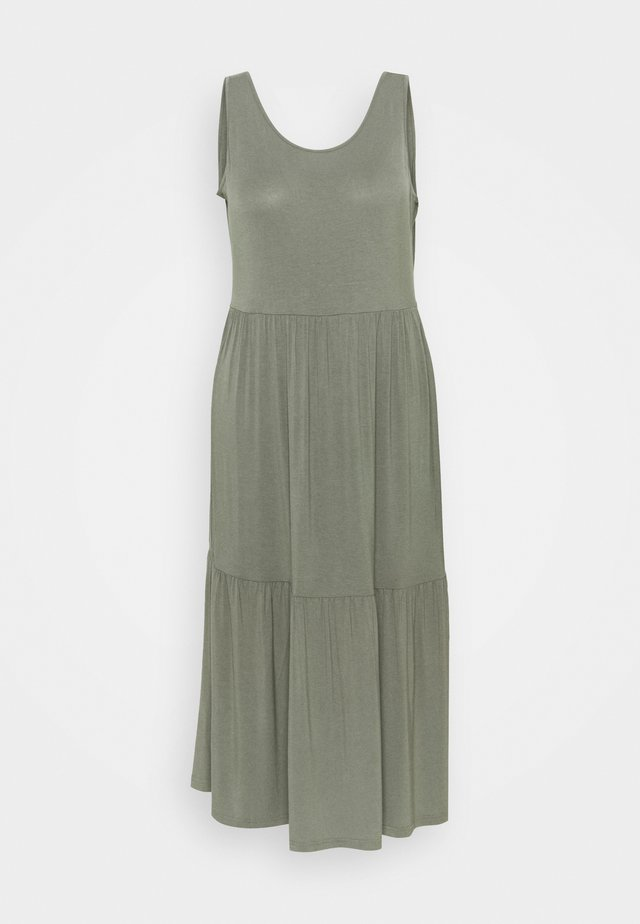 TIERED VEST DRESS - Korte jurk - khaki