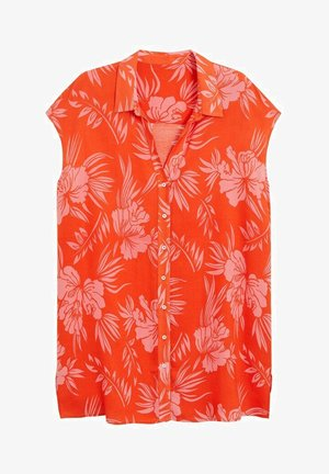 HAWAI - Button-down blouse - korallrot