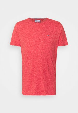 SLIM JASPE C NECK - T-shirt - bas - deep crimson