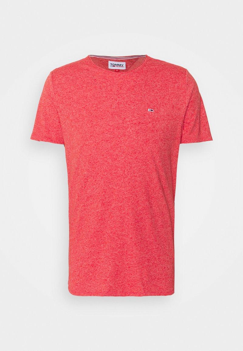 Tommy Jeans - JASPE NECK - T-shirt - bas - deep crimson