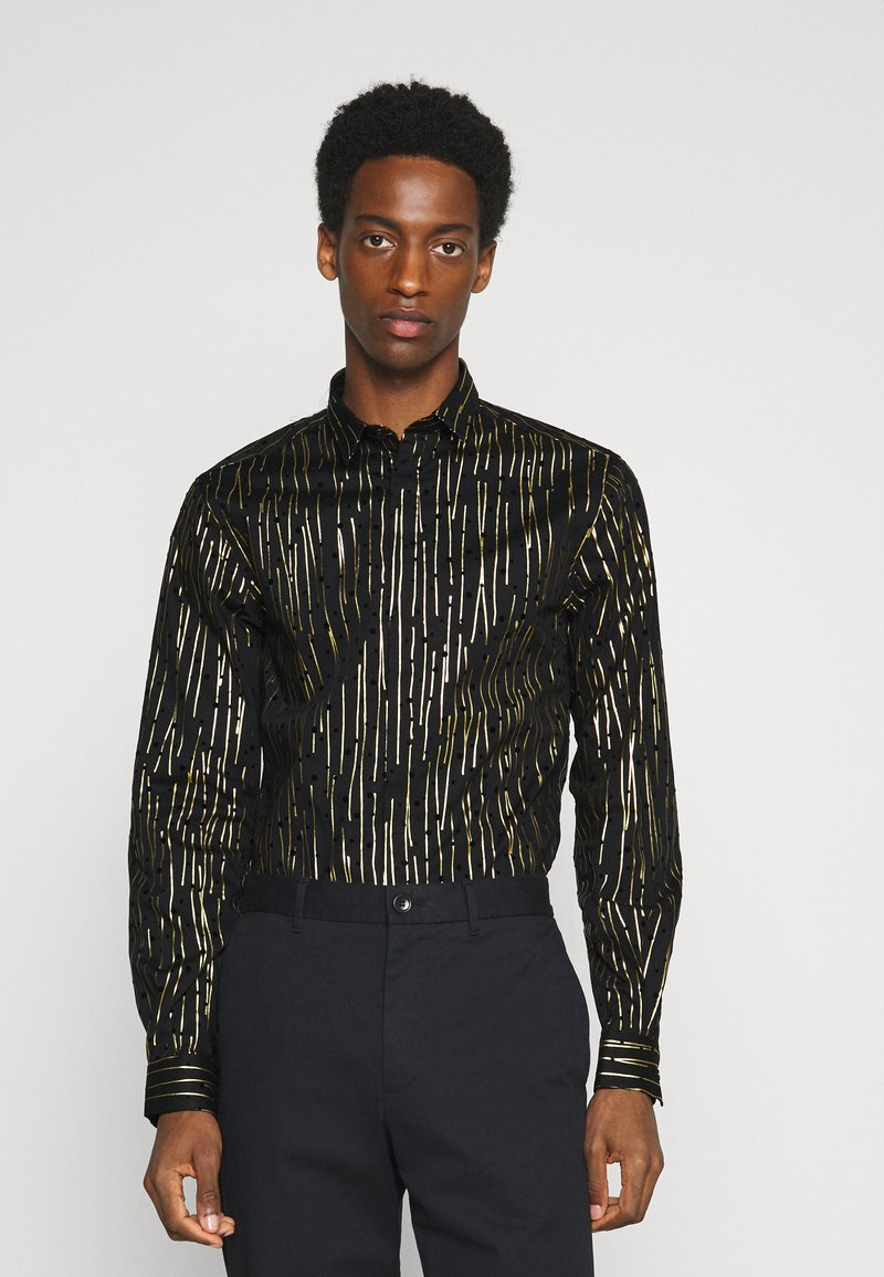 Twisted Tailor - SAGRADA SHIRT - Camicia - black/gold