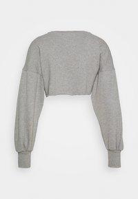 NU-IN - SUPER CROPPED RAW HEM - Sweatshirt - grey marl - 7