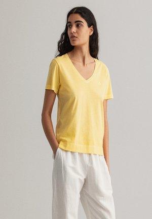 SUNFADED - Print T-shirt - brimestone yellow