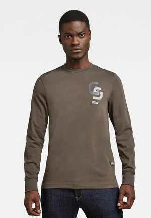 GS CHEST LOGO - Long sleeved top - khaki
