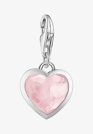ROSENQUARZ HERZ - Pendant - silver-colored/pink