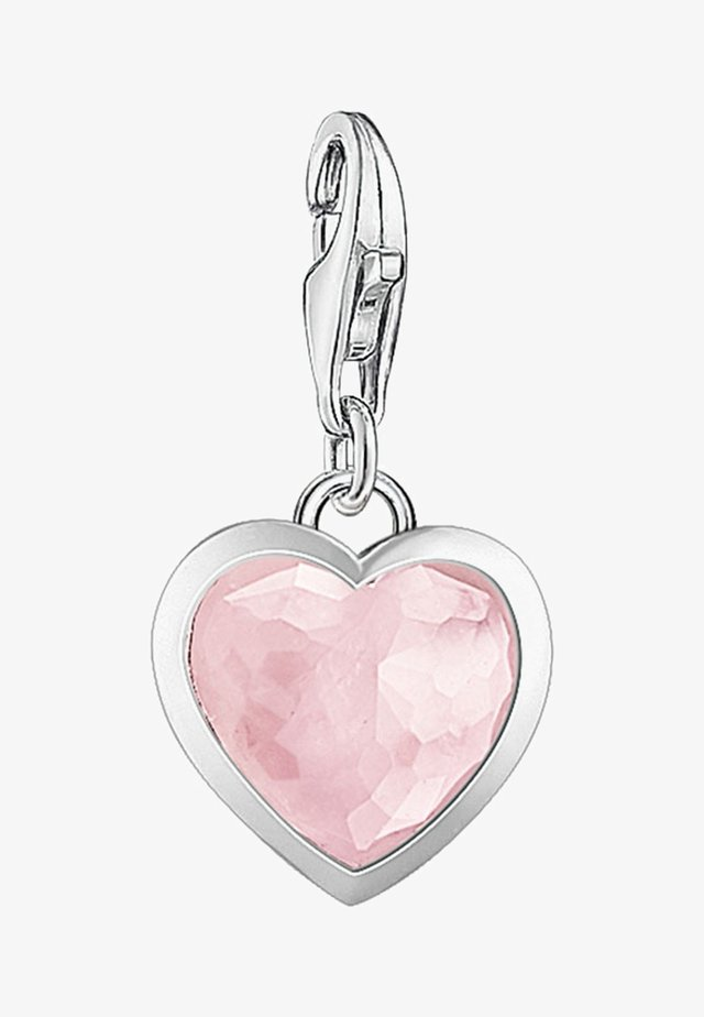 ROSENQUARZ HERZ - Pendentif - silver-colored/pink