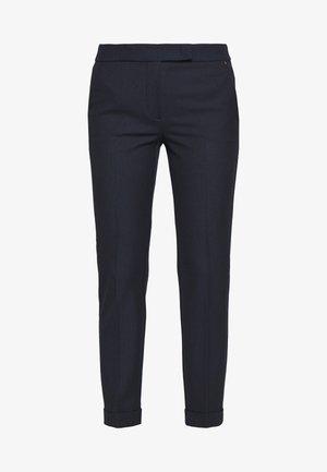 MONOPOLI - Trousers - navy blue pattern