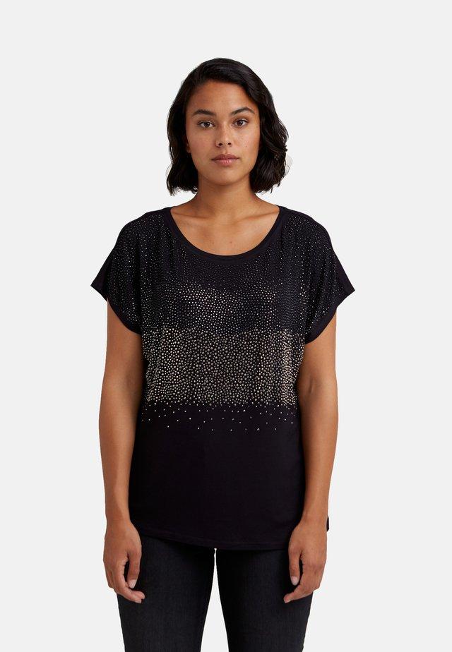 MIT KRISTALLAPPLIKATIONEN - Camiseta estampada - nero