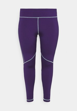 WOR LOGO - Tights - dark orchid