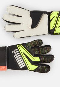 Puma - ULTRA GRIP 1 JUNIOR UNISEX - Goalkeeping gloves - black/yellow alert - 1