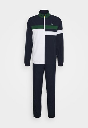 TRACKSUIT SET - Tracksuit - navy blue/white/green/wasp