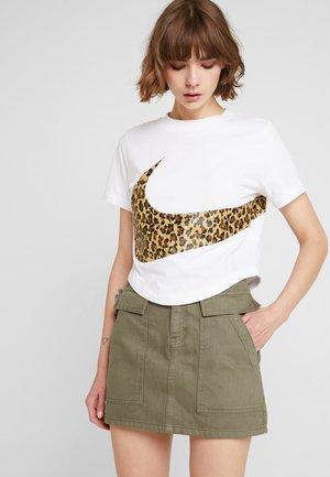 Denim skirt - khaki