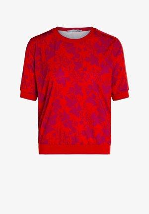 Print T-shirt - red violett