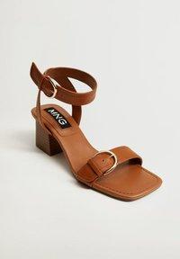 Mango - MORE - Sandals - halvbrun - 1