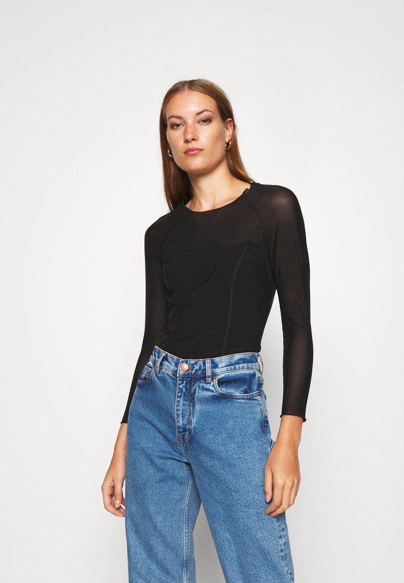 Calvin Klein Jeans - Bluzka z długim rękawem - black