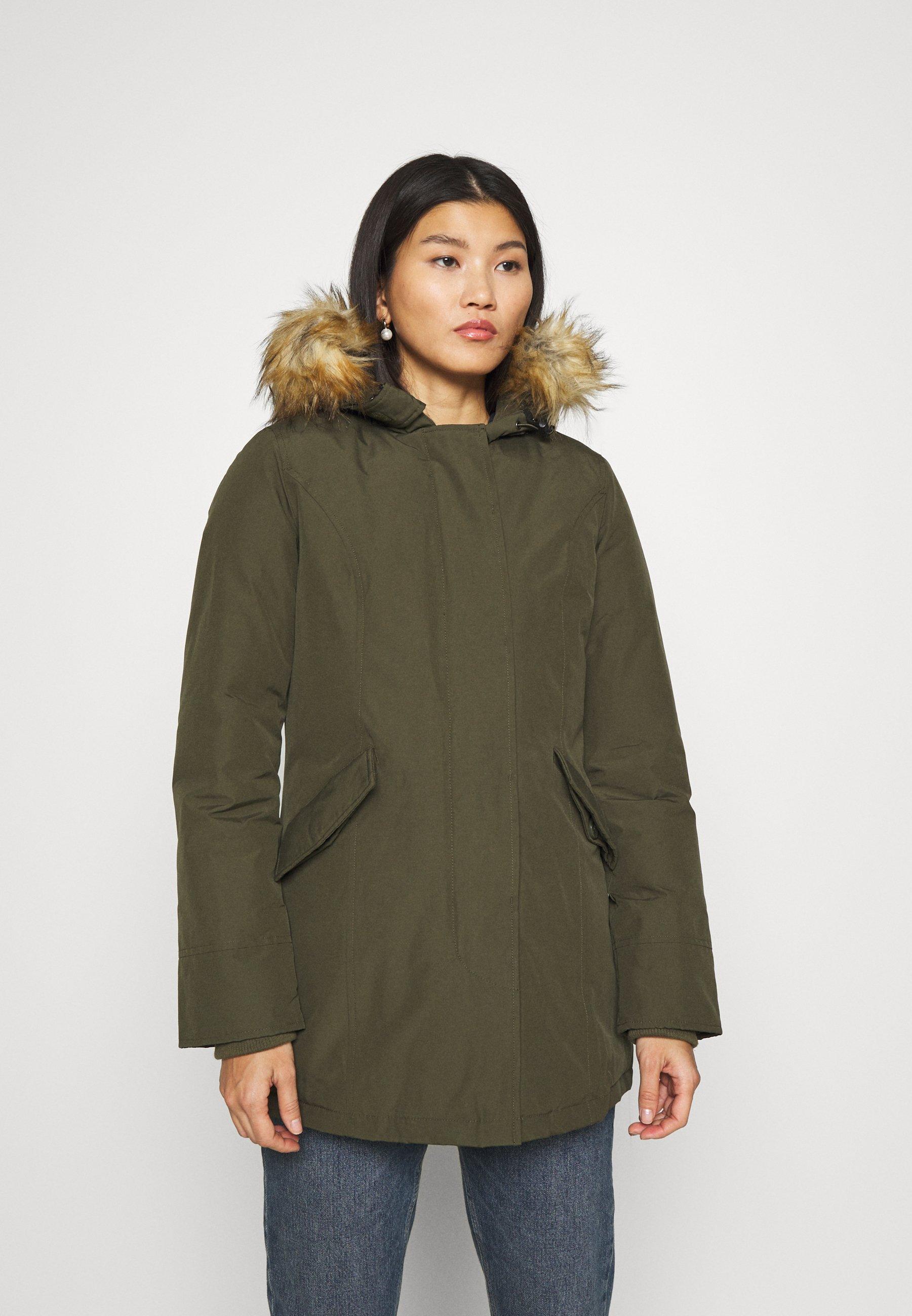 Canadian Classics Fundy Bay Recycled Winter Coat Army Khaki Zalando Co Uk
