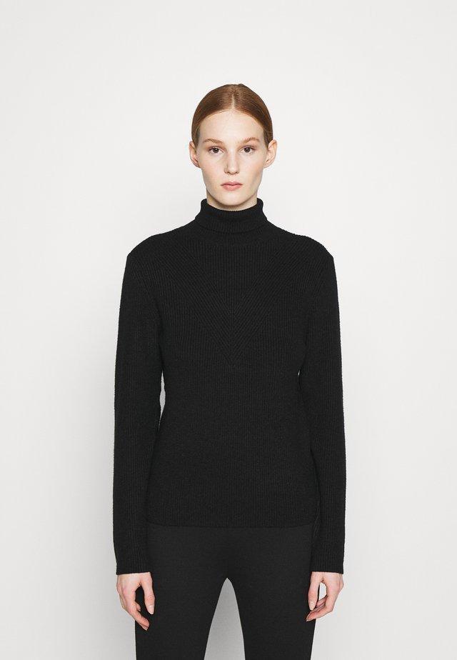 OBJVENLO ROLLNECK  - Sweter - black