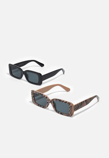 ONSSUNGLASS 2 PACK UNISEX - Sunglasses - black/black/camel