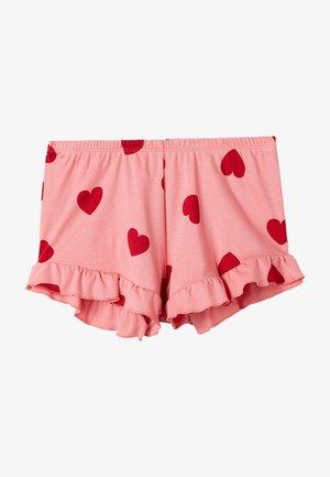 Pyjama bottoms - rosa pink caramel heart print