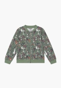 Lindex - MINI SWEET - veste en sweat zippée - light dusty green - 0