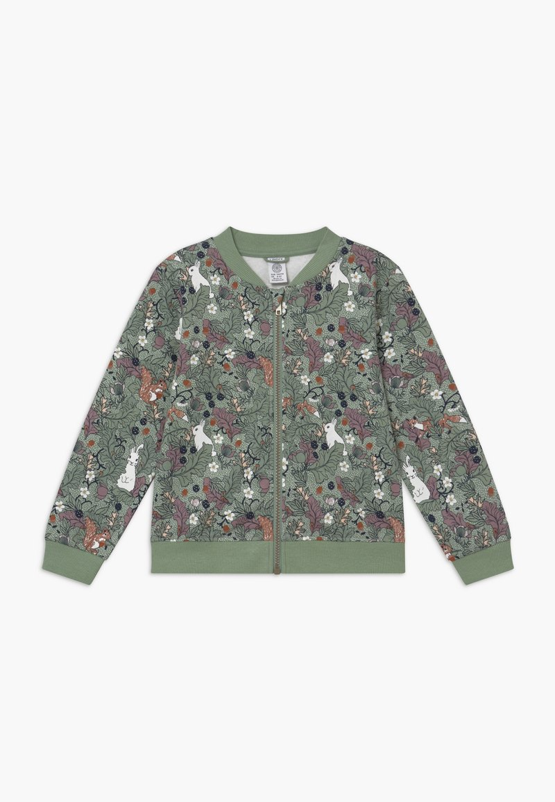 Lindex - MINI SWEET - veste en sweat zippée - light dusty green