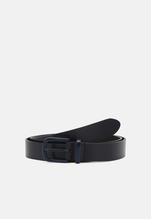 UNISEX LEATHER - Pásek - dark blue