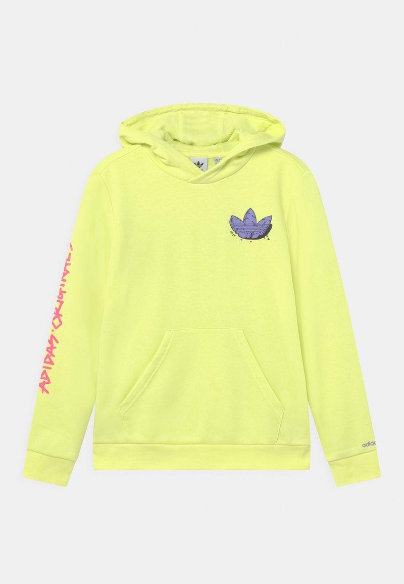 adidas Originals - HOODIE UNISEX - Collegepaita - pulse yellow/light purple