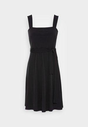 WIDE STRAP BASIC MIDI DRESS  - Day dress - black