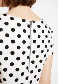 Vila - VITINNY - Shift dress - snow white/black - 5