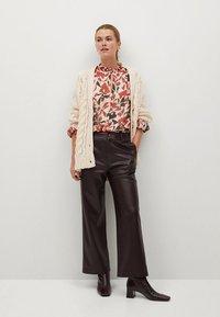 Mango - FLORALIS - Button-down blouse - ecru - 1