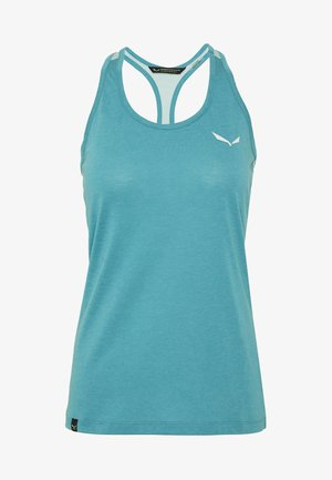 AGNER HYBRID DRI REL TANK - Sports shirt - ocean