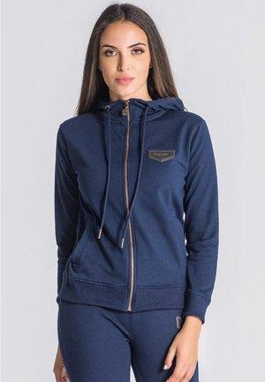 Sweat à capuche zippé - navy blue