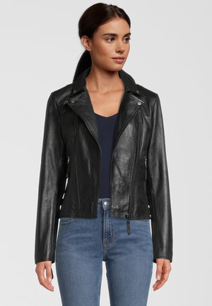 CAMILLE - Leather jacket - black